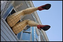 Giant lady legs on Haight street, Haight-Ashbury District. San Francisco, California, USA ( color)