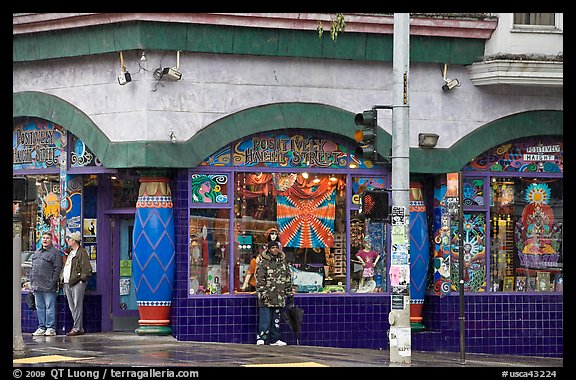 Colorful corner store. San Francisco, California, USA (color)