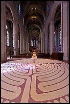Labyrinth and nave, Grace Cathedral. San Francisco, California, USA ( color)