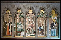 Fresco depicting building of the current cathedral, Grace Cathedral. San Francisco, California, USA ( color)