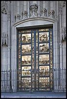 Copy of doors of the Florence Baptistry by Lorenzo Ghiberti, Grace Cathedral. San Francisco, California, USA ( color)