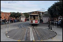 Turntable and cable car. San Francisco, California, USA ( color)