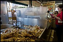 Crabs at outdoor food vending booths, Fishermans wharf. San Francisco, California, USA ( color)