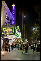 Criterion Movie theater at night, Third Street Promenade. Santa Monica, Los Angeles, California, USA (color)