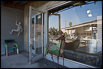 Sculptures, gallery, and reflections, Bergamot Station. Santa Monica, Los Angeles, California, USA