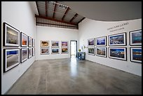 Photographic exhibition in gallery, Bergamot Station. Santa Monica, Los Angeles, California, USA