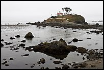 Battery Point Lighthouse on semi-islet, Crescent City. California, USA (color)