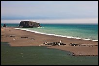 Russian River estuary and beach, Jenner. Sonoma Coast, California, USA (color)