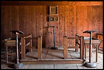Russian chapel interior,  Fort Ross Historical State Park. Sonoma Coast, California, USA