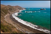 Beach and turquoise waters, late summer. Sonoma Coast, California, USA