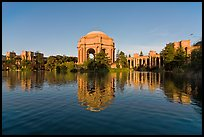 Palace of Fine arts and lagoon, early morning. San Francisco, California, USA ( color)