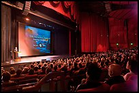 Palace of Fine Arts Theater, with Dayton Duncan presenting new documentary film. San Francisco, California, USA ( color)