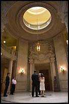 Wedding in the City Hall rotunda. San Francisco, California, USA ( color)