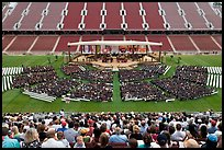 Stanford University commencement. Stanford University, California, USA (color)