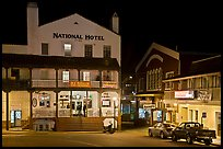 National Hotel by night, one of California oldest, Jackson. California, USA ( color)