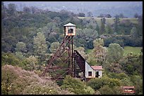 Hills and Kennedy Mine structures, Jackson. California, USA ( color)