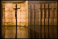 Christ and reflections, mausoleum, The Cathedral of Christ the Light. Oakland, California, USA