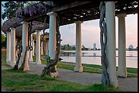 Colonade at dusk, Lake Meritt. Oakland, California, USA ( color)