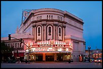 Grand Lake theater at dusk. Oakland, California, USA ( color)