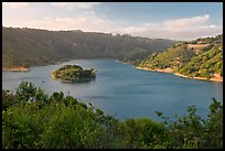 Lake Chabot reservoir, late afternoon. Oakland, California, USA (color)