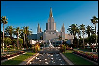 Oakland California LDS (Mormon) Temple. Oakland, California, USA (color)