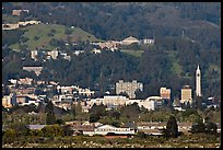 Buildings and hills in spring. Berkeley, California, USA ( color)