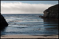 Marine layer offshore China Cove. Point Lobos State Preserve, California, USA