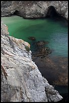 Green waters of China Cove. Point Lobos State Preserve, California, USA