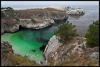 China Cove on cloudy day. Point Lobos State Preserve, California, USA (color)