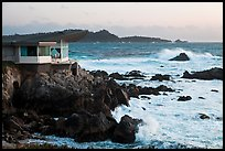 Butterfly house and waves. Carmel-by-the-Sea, California, USA ( color)