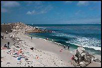 Beach at Lovers Point. Pacific Grove, California, USA ( color)