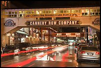 Cannery Row on a rainy night. Monterey, California, USA ( color)