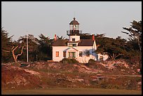 Point Pinos Lighthouse, late afternoon. Pacific Grove, California, USA ( color)
