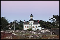 Point Pinos Lighthouse, oldest continuously-operating on the West Coast. Pacific Grove, California, USA (color)