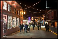 On the Fishermans Wharf at night. Monterey, California, USA ( color)