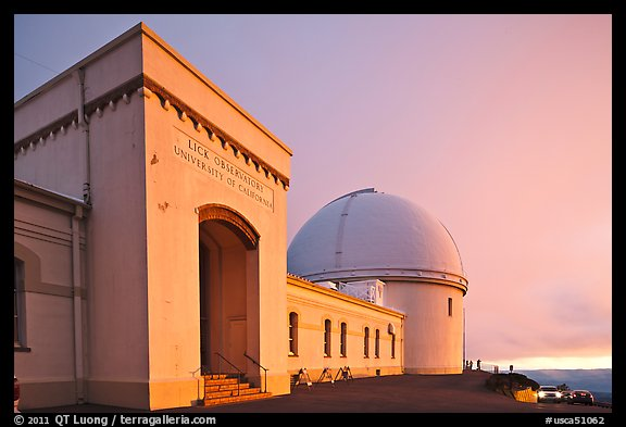 University of California Lick Observatory at sunset. San Jose, California, USA