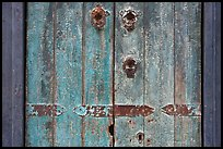 Weathered door detail. Santana Row, San Jose, California, USA ( color)