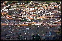 Rooftops of single family homes, Evergreen. San Jose, California, USA ( color)
