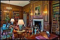 Room with antique furnishings, Filoli estate. Woodside,  California, USA ( color)