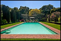 Swimming pool, Filoli estate. Woodside,  California, USA ( color)