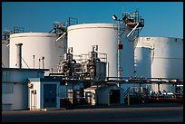 Oil tanks, Richmond. Richmond, California, USA ( color)