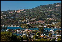 Belvedere Lagoon, Tiburon. California, USA (color)