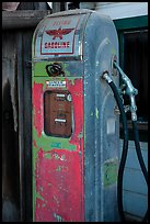 Old gas pump, China Camp State Park. San Pablo Bay, California, USA ( color)