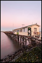 Pier on San Pablo Bay at sunset. San Pablo Bay, California, USA ( color)