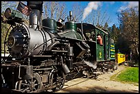 Steam train, Roaring Camp Railroads, Felton. California, USA ( color)