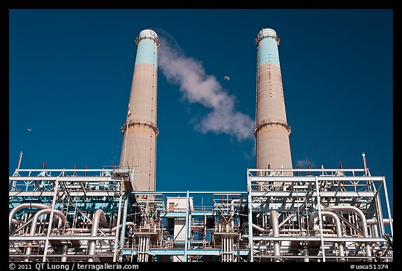 Natural gas powered electricity generation plant, Moss Landing. California, USA