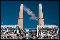 Natural gas powered electricity generation plant, Moss Landing. California, USA ( color)