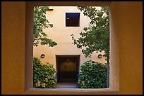 Adobe style architecture, Schwab Residential Center. Stanford University, California, USA (color)