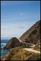 Winding Highway 1. Big Sur, California, USA ( color)