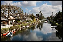 Venice Canal Historic District. Venice, Los Angeles, California, USA ( color)